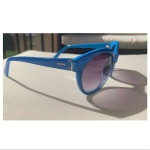 Fancy Royal Blue Fossil Sunglasses